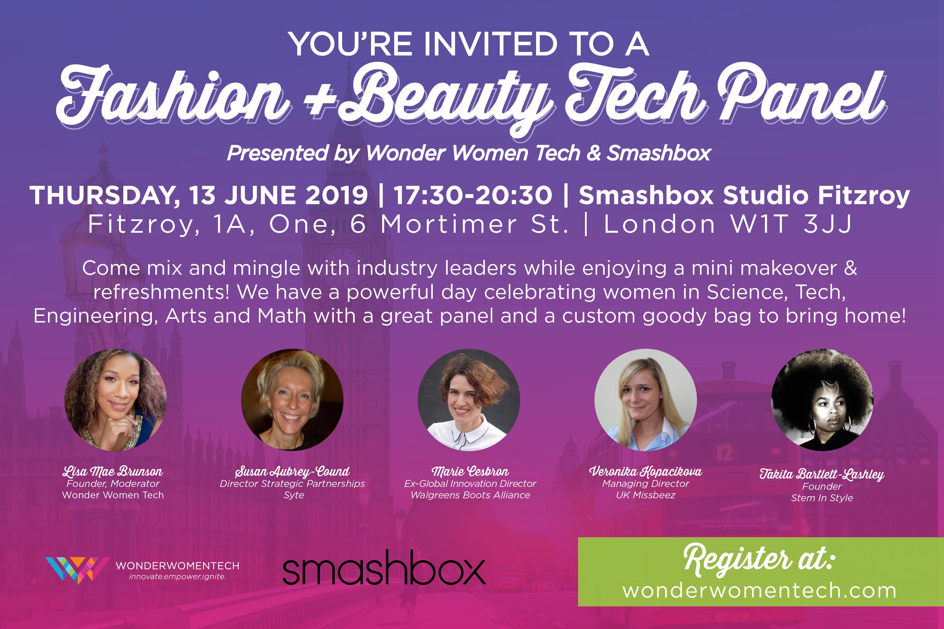 Smashbox Fashion + Beauty Tech Panel & Networking Mixer